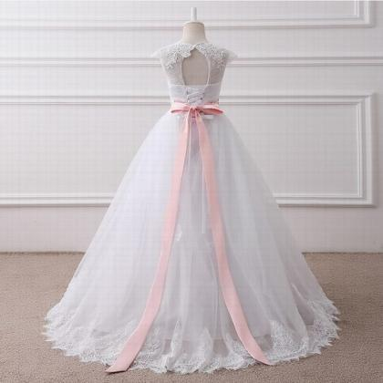 real photo Ball Gown Long Flower Gi..
