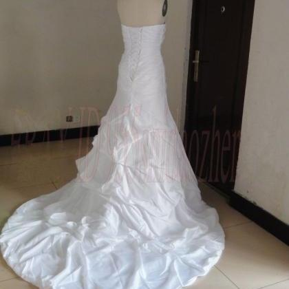Formal Beading Sweetheart Long Trai..