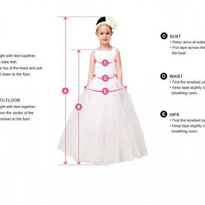 Formal Backless Flower Girl Dresses..