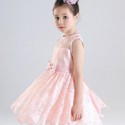 Formal Tea Length Flower Girl Dress..