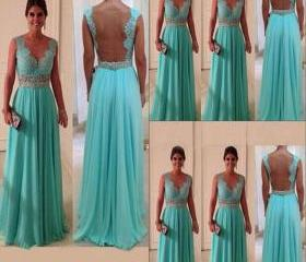 Lace Prom Dress Back..