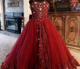 Red Ball Gown Flower..