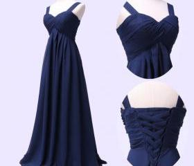 Blue Chiffon Long Ev..