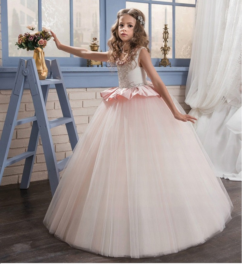 2017 Communion Party Prom Princess Gowns Pageant Bridesmaid Wedding Flower Girl Dress 71