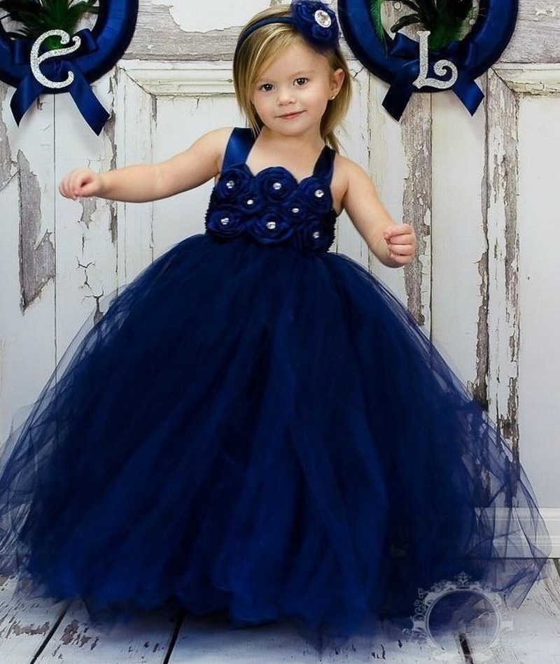 Princess Gowns Cute Pageant Flower Girl Dresses Kids Birthday Dress