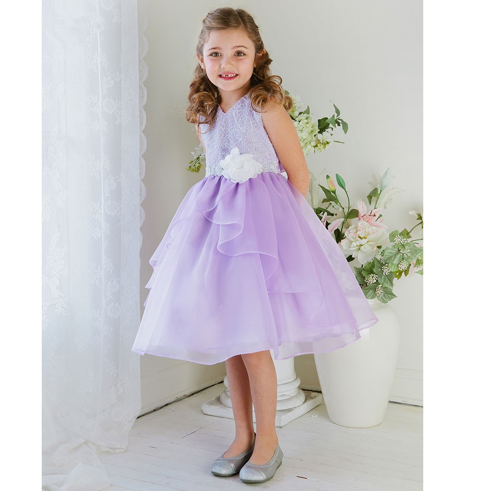 Knee Length Short Girl Birthday Wedding Party Formal Flower Girls Dress baby Pageant dresses 353