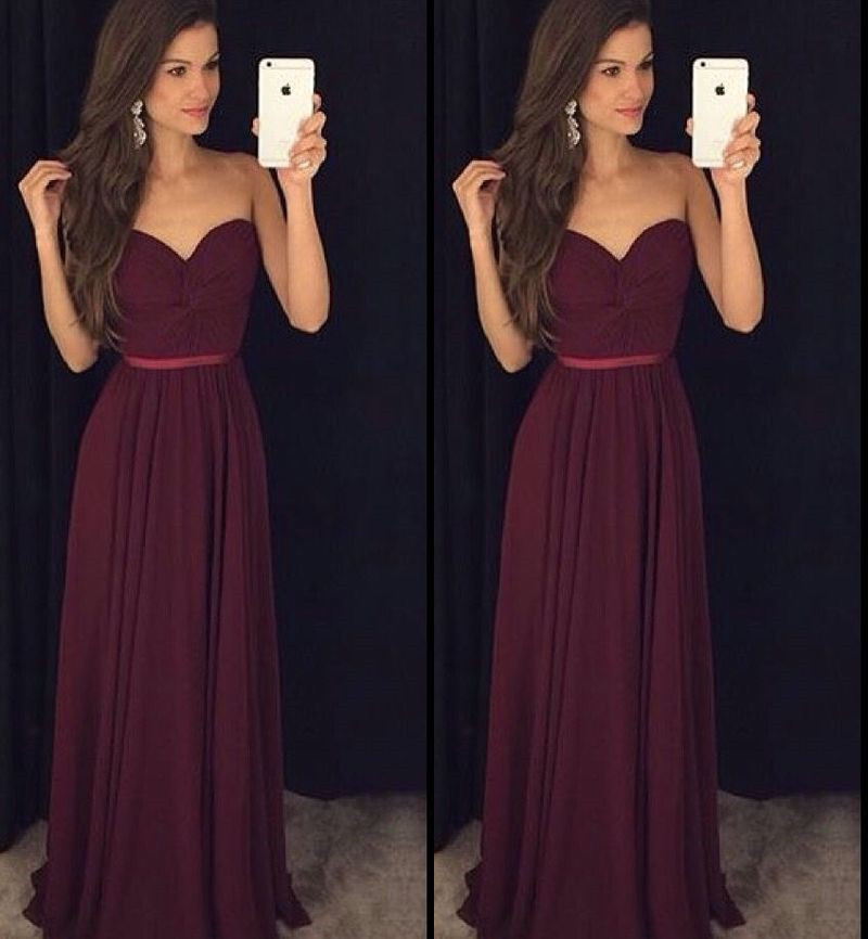 0396ff0d133 Maroon Bridesmaid Dress Long Bridesmaid Dress Cheap Bridesmaid Dress  Sweetheart Bridesmaid Dress Bridesmaid Dresses Custom Make Bridesmaid Dress  Women ...