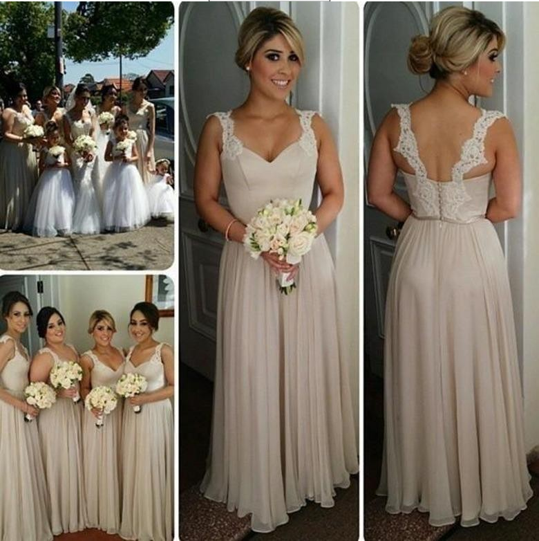 Lace Bridesmaid Dress Long Bridesmaid Gown