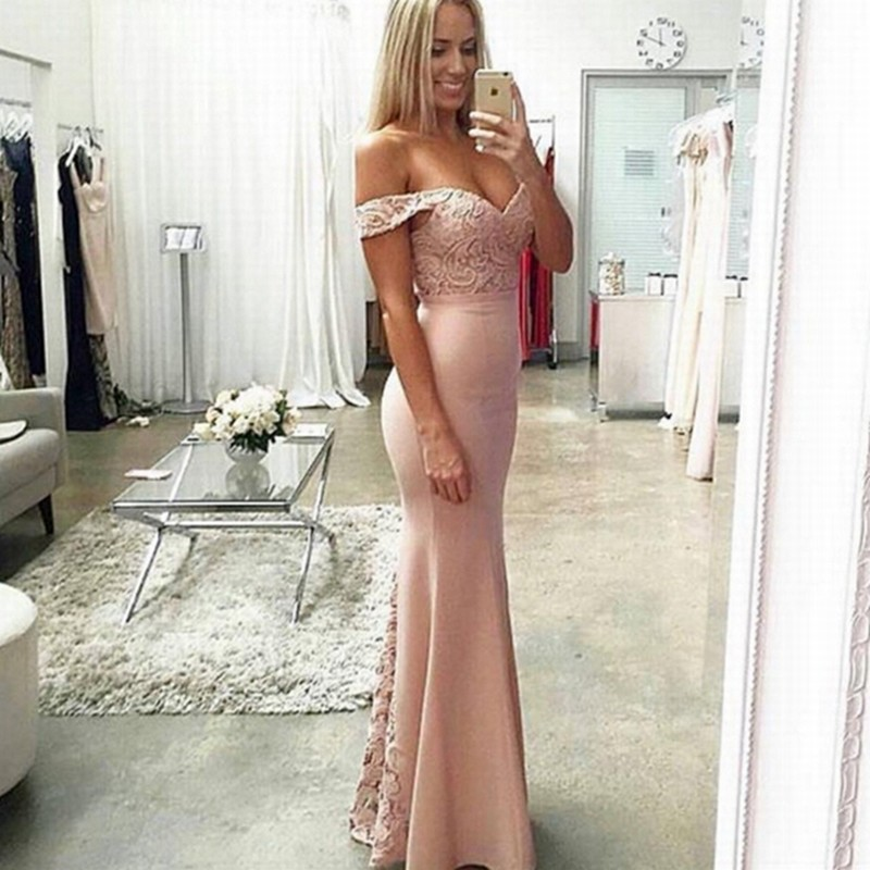 Long Evening Dress 2017 Mermaid Formal Evening Gowns Cap Sleeve Ladies Lace Arabic Style Evening Dresses robe de soiree