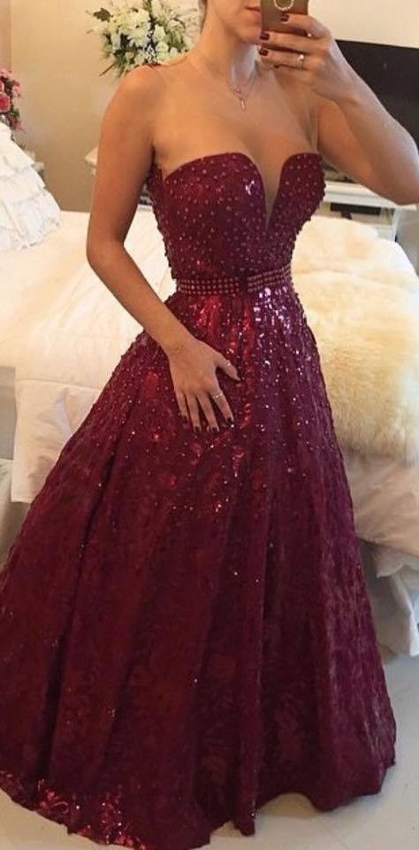 a6c893fde68 High Quality Red Prom Dress Charming Prom Dress Noble Prom Dress Beading Prom  Dress Strapless Prom