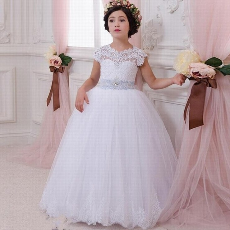 580e239d691 Love Wedding Lace Flower Girl Dress for Weddings First Communion Dresses  for Girls Lace up Back Ball Gown Custom Made Plus Size ytz204 (2