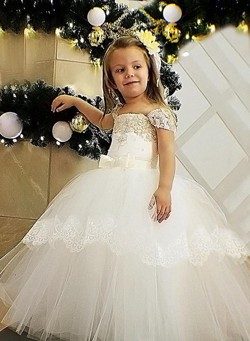 Ivory Flower Girl Dress Ivory Wedding Lace Girl Dress Pattern Girl