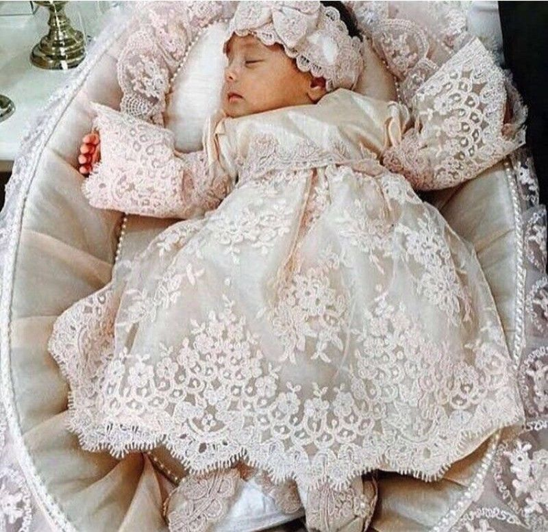 b520d2c78 Vintage Christening Dress For Baby Girl Baptism Gown First Communion  +Bowknot Birthday Wedding party Bridesmaid Holiday 05