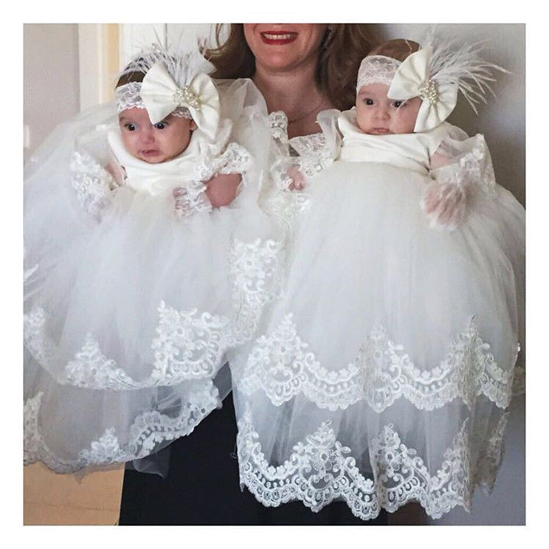 Long Sleeve Vintage Christening Dress