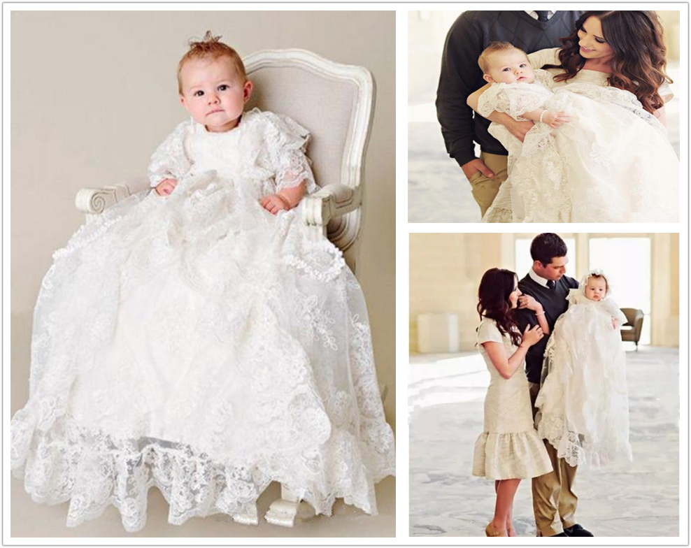 cfeaee42c79c With Hat Infant WhiteIvory Christening Dress Baby Girls Baptism Gown ...