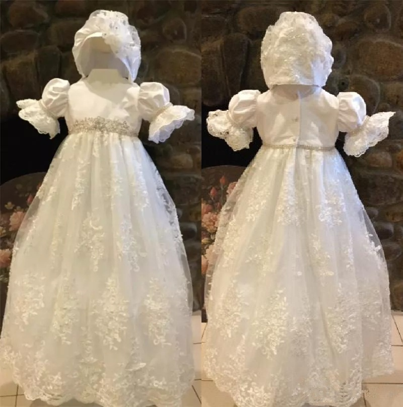 4b127e202 With Hat Cute Ivory White First Communion Dresses Puff Sleeve Custom ...