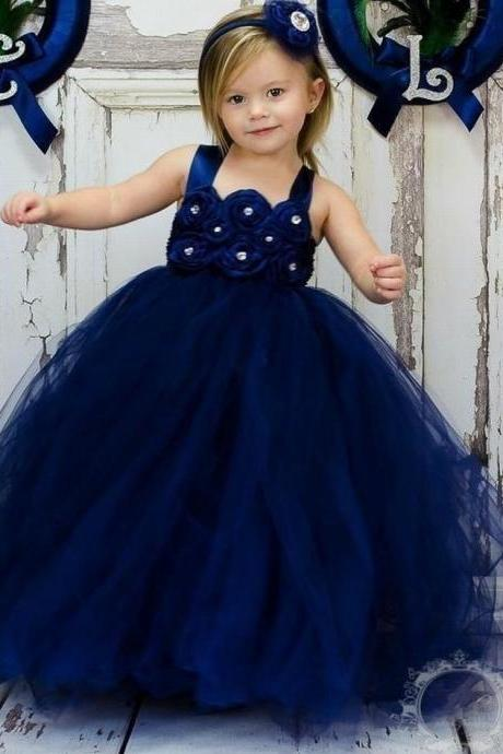Princess Gowns Cute Pageant Flower Girl Dresses Kids Birthday Dress Wedding Party Dresses 115