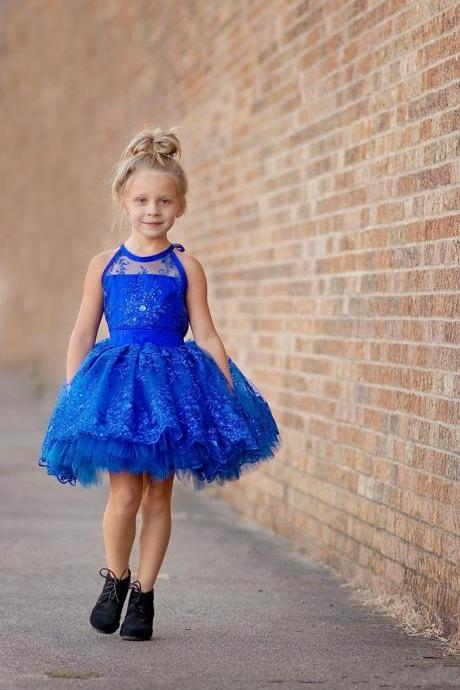 Short Princess Gown Baby Girl Birthday Wedding Party Formal Flower Girls Dress baby Pageant dresses 248