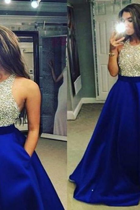Beading Sexy Long Bridesmaid Ball Gown Evening Dress Prom Dress Bridal Wedding Party Dress