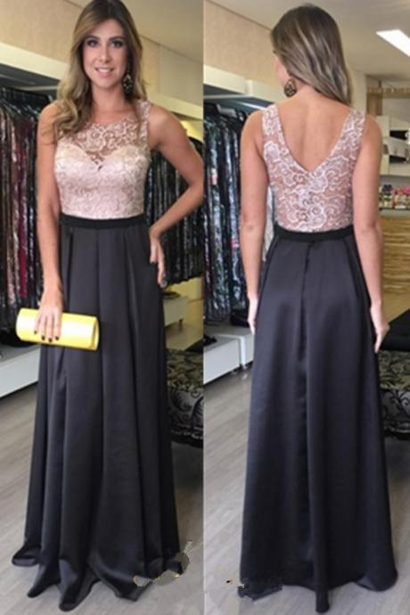 Prom Dress Long Prom Dress Lace Prom Dress V Back Prom Dress Chiffon Prom Dress Black Prom Dress Sweetheart Lining Prom Dress Evening Dress Party Dress