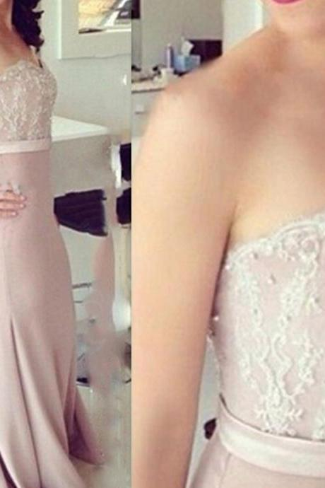 Beautiful Handmade Sweetheart Mermaid Prom Dress With Lace Applique Prom Gowns Evening Gowns Bridesmaid Dresses