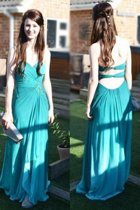 A-Line Prom Dresses Strapless Prom Dresses Chiffon Prom Dresses Long Prom Dresses Green Prom Dress Long Party Dress