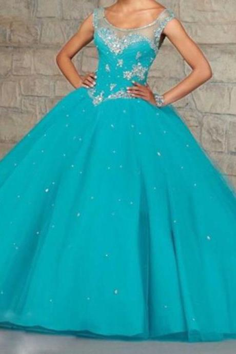 New Beaded Quinceanera Dress Ball Gown Formal Prom Party Wedding Dresses
