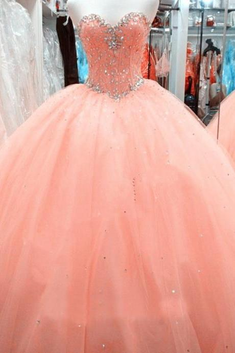 Quinceanera Dresses Beaded Wedding Prom Evening Formal Ball Gown Party Pageant