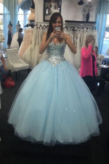 Ball Gown Tulle Prom Dresses Sweetheart Neck Women Wedding Bridal Gown Party Dresses