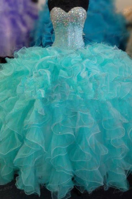New Quinceanera Dresses Formal Prom Party Ball Gown Pageant Wedding Dress Custom