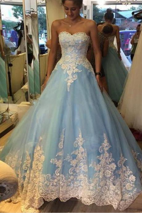 New Sweetheart Applique Quinceanera Dress Formal Prom Ball Pageant Wedding Gowns
