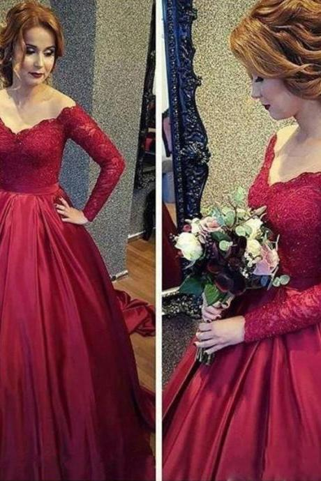 New Quinceanera Dress Long Sleeve Lace A Line Wedding Prom Formal Gowns