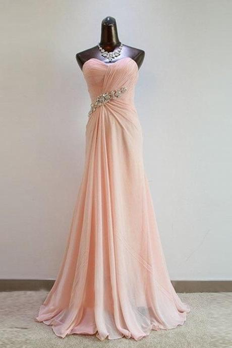 Light Pink Sweetheart Prom Dress Bridesmaid Dresses Bridesmaid Dresses Formal Dress Evening Dress