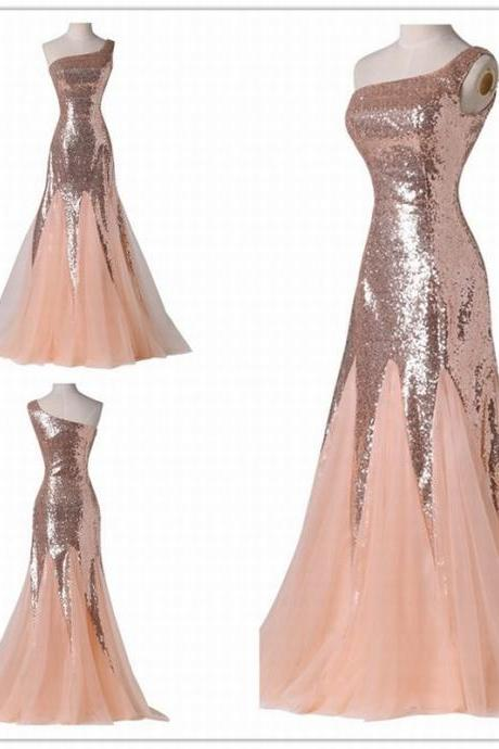 Sequin Long Dress New Hot Sale One Shoulder Sequin Dress Prom Dress Evening Party Dress