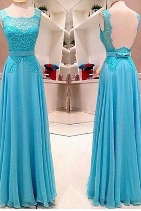 Charming Prom Dress Chiffon Prom Dress Lace Prom Dress A-Line Evening Dress