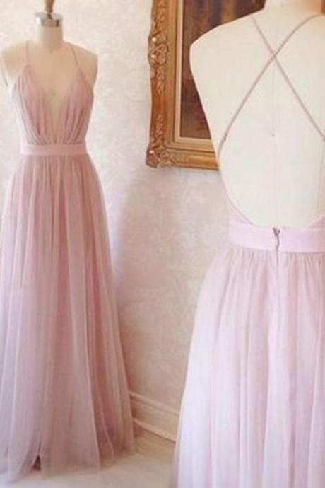 Charming Prom Dress Tulle Prom Dress A-Line Prom Dress Spaghetti Straps Evening Dress