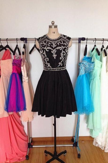 Charming Homecoming Dress Chiffon Homecoming Dress Beading Homecoming Dress Noble Homecoming Dress