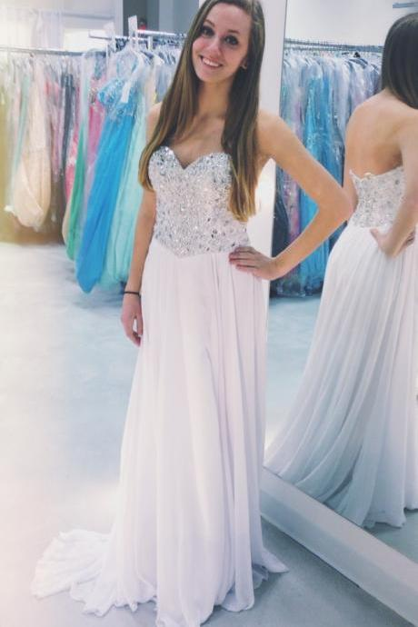 Long Prom Dress Sweetheart Prom Dress Sequined Prom Dress Chiffon Prom Dress A-Line Prom Dress