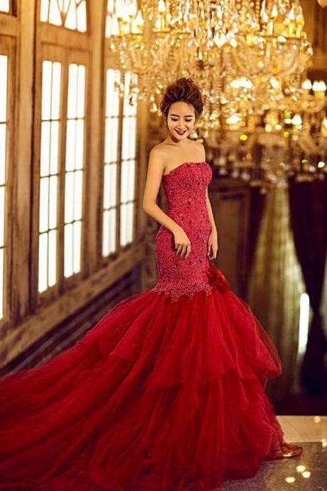 Wedding Dress Mermaid Wedding Dress Red Wedding Dress Luxury Wedding Dress Crystal Wedding Dress Sweetheart Wedding Dress Beaded Wedding Dress Long Wedding Dress Gothic Wedding Dress Unique Wedding Dress Puffy Wedding Dress Dress For Bride