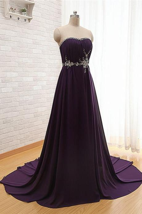 Sweetheart Purple Homecoming Dress Purple Prom Dress Sexy Prom Dress Chiffon Homecoming Dress Simple Homecoming Dress Cheap Prom Dress