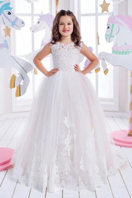 Lace Ball Gown Chilfren Dress Flower Girl Dresses .Flower Girl Dresses.Flower Gril Dresses,Satin Flower Girl Dresses 474