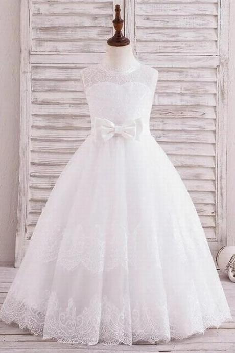 Formal Simple Children Lace Flower Girl Dresses .Flower Girl Dresses.Flower Gril Dresses,Satin Flower Girl Dresses ytz128