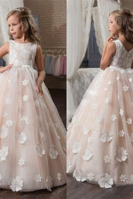 hot Flower Girl Dress Wedding Bridesmaids Prom Ball Gown Pageant Party Princess ytz193 (1)