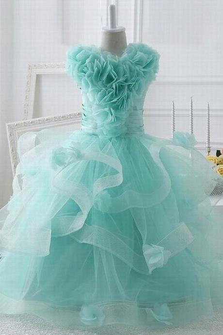 Flower girls dresses for party and wedding Kids evening gowns Vestido longo Free custom made ytz205 (1)