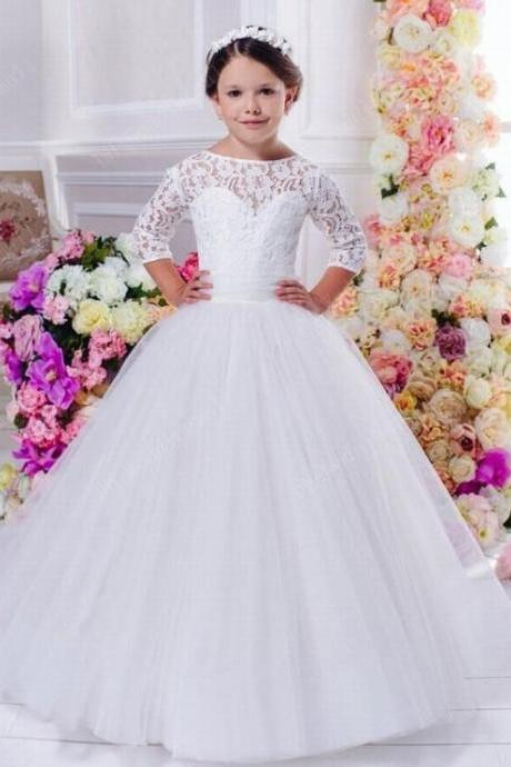 Flower Girl Dress Wedding Bridesmaid Birthday Pageant hot Graduation Princess ytz303