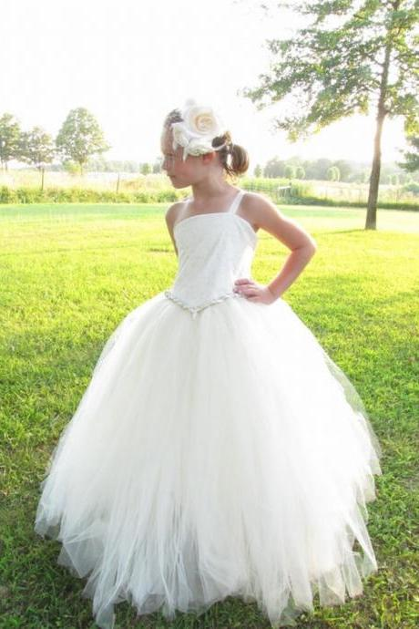 tulle flower girl dress, lace flower girl dress, tulle flower girl dress, pagent dress, flower girl dress xk88 (1)