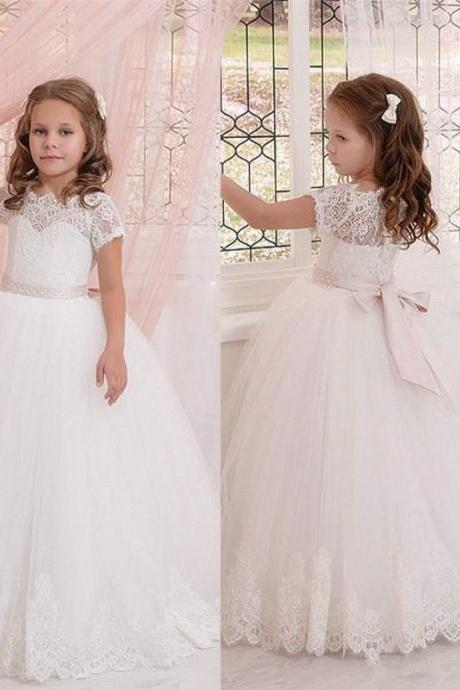Flower Girl Dress Bridesmaid Wedding Communion Girl Party Prom Princess Pageant 90