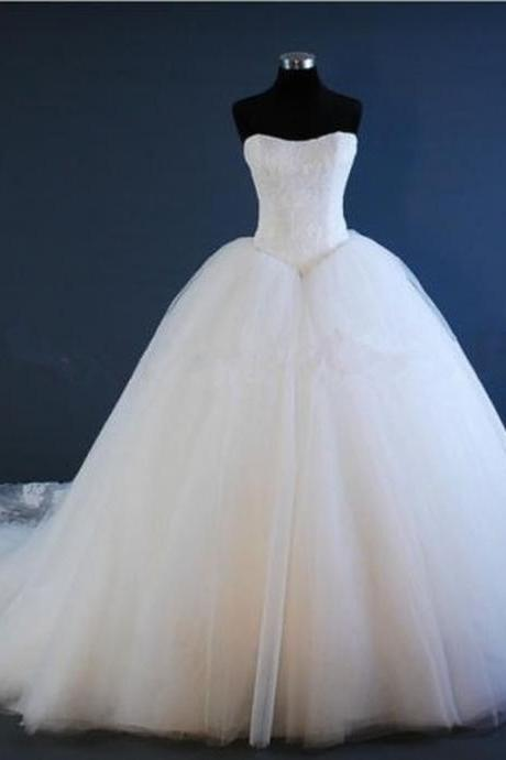 New WhiteIvory Lace Wedding Dress Bridal Gown Ball Gown Custom Made Dress 09