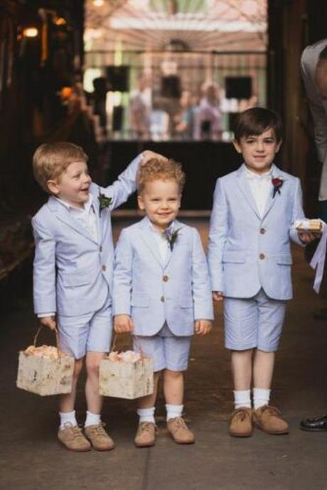 Toddler Tailored Summer Suit Child Birthday Party Wedding Page Boy Shorts Suit(Jacket+Pant)