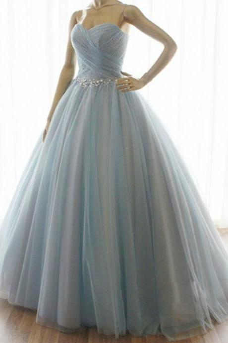 Sweetheart Long Evening Dress Prom Dress Custom Made Crystal Bridal Party Dress c30